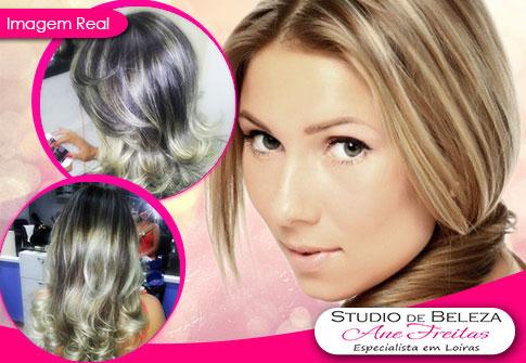 Mechas, Luzes, Ombré Hair, ou Californianas, no Studio de Beleza Ane Freitas