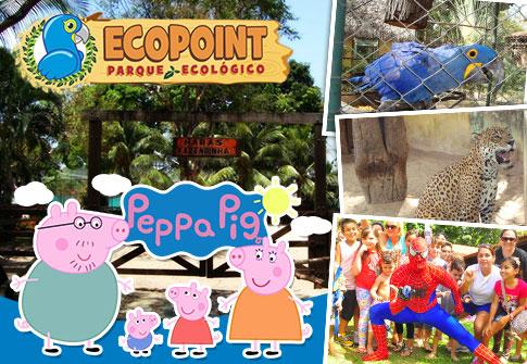 Show da Peppa + Show do Homem Aranha + Passaporte para o Ecopoint