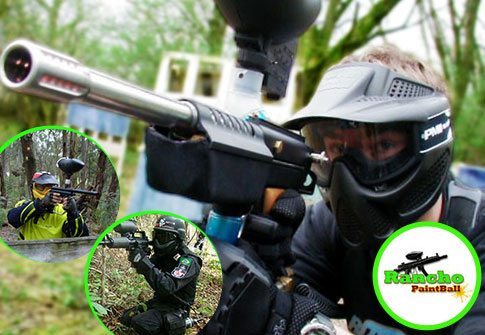 02 horas de Paintball + 100 Bolinhas + Equipamento Completo no Rancho Paintball