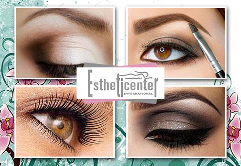 Design de sobrancelhas + Aplicação de Henna + Coloração de cílios, na renomada Estheticenter
