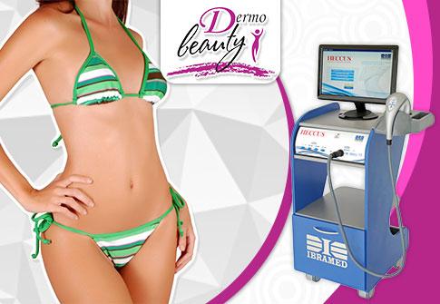 Pacote com 60 sessões para combate a celulite, flacidez e gordura localizada na Dermo Beauty.