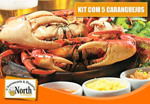 Kit com 05 caranguejos na North Chopp