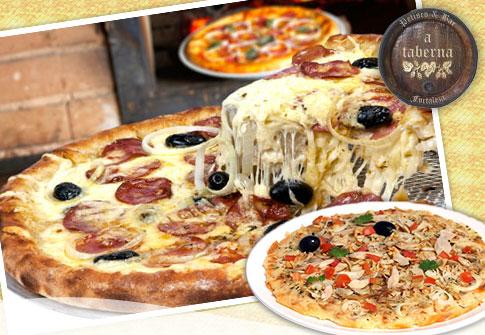 Pizza Grande (qualquer sabor do cardapio) no A Taberna