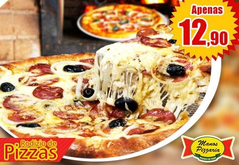 Rodízio de Pizzas na Manos Pizzaria