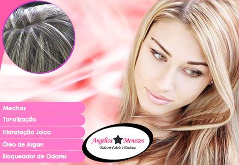 Mechas (Californianas, Platinadas, Ombré Hair, Inversas ou Luzes) na Angélica Menezes