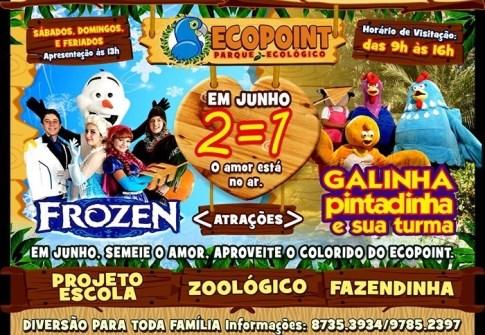 Passaporte p/ o Ecopoint + Musical Frozen + Show do Homem Aranha