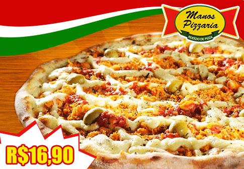 Pizza Grande na Manos Pizzaria