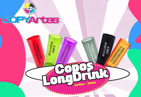 100 copos Long Drink 300ml