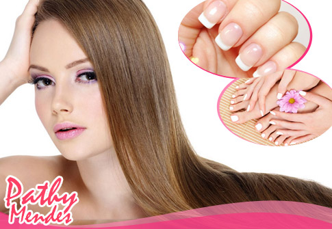 Pathy Mendes: Escova Inteligente, unhas de gel ou acrigel OU manicure + pedicure